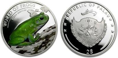 Палау серебро 2 доллара лягушка купить поиск без металлоискателя
