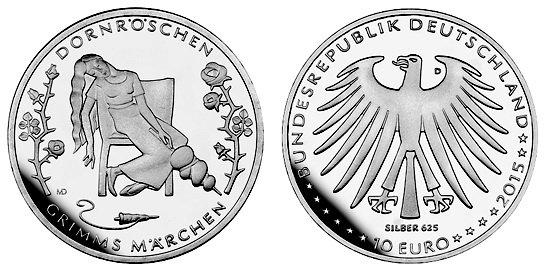 Спящая красавица германия монетные дворы польши