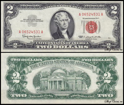 США 2 доллара 1963 (UNC Pick 382a) United States Note