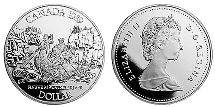 Канада. 1 доллар 1989 год. пруф, серебро. 200 лет открытию р.