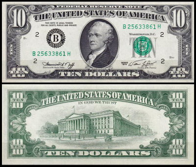 США 10 долларов 1974 (UNC Pick 457) Federal Reserve Note