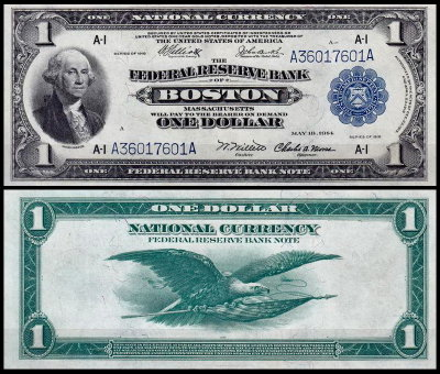 США 1 доллар 1918 (UNC Pick 371) Federal Reserve Bank