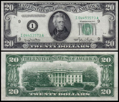 США 20 долларов 1950 (UNC Pick 440) Federal Reserve Note