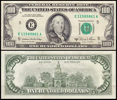 США 100 долларов 1981A (UNC Pick 473b) Federal Reserve Note