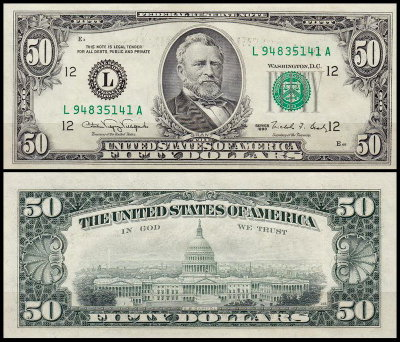 США 50 долларов 1990 (UNC Pick 488) Federal Reserve Note